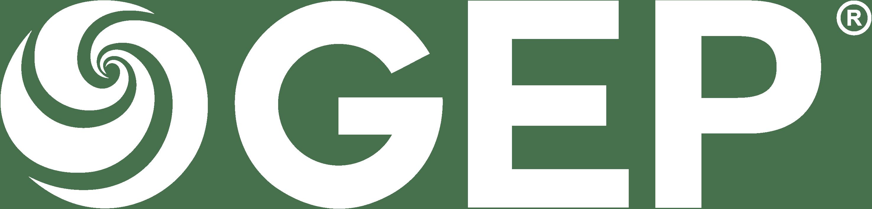 gep logo white