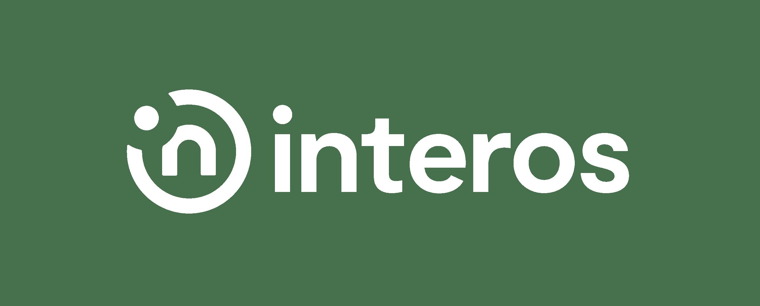 Interos logo white