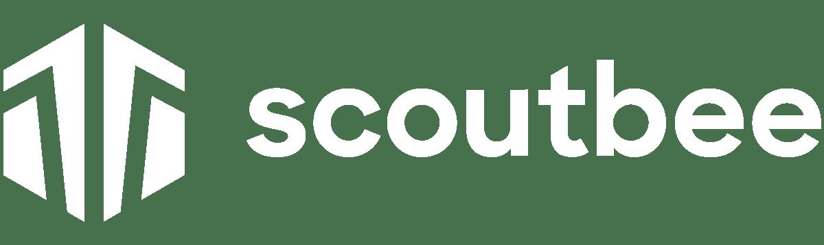 Scoutbee logo white