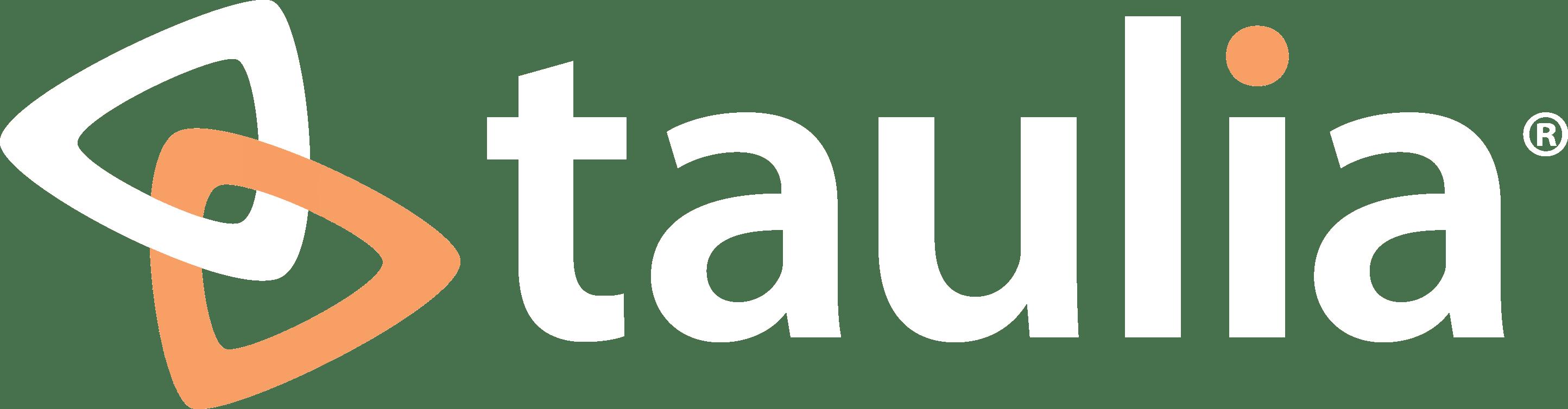 Taulia logo inverted